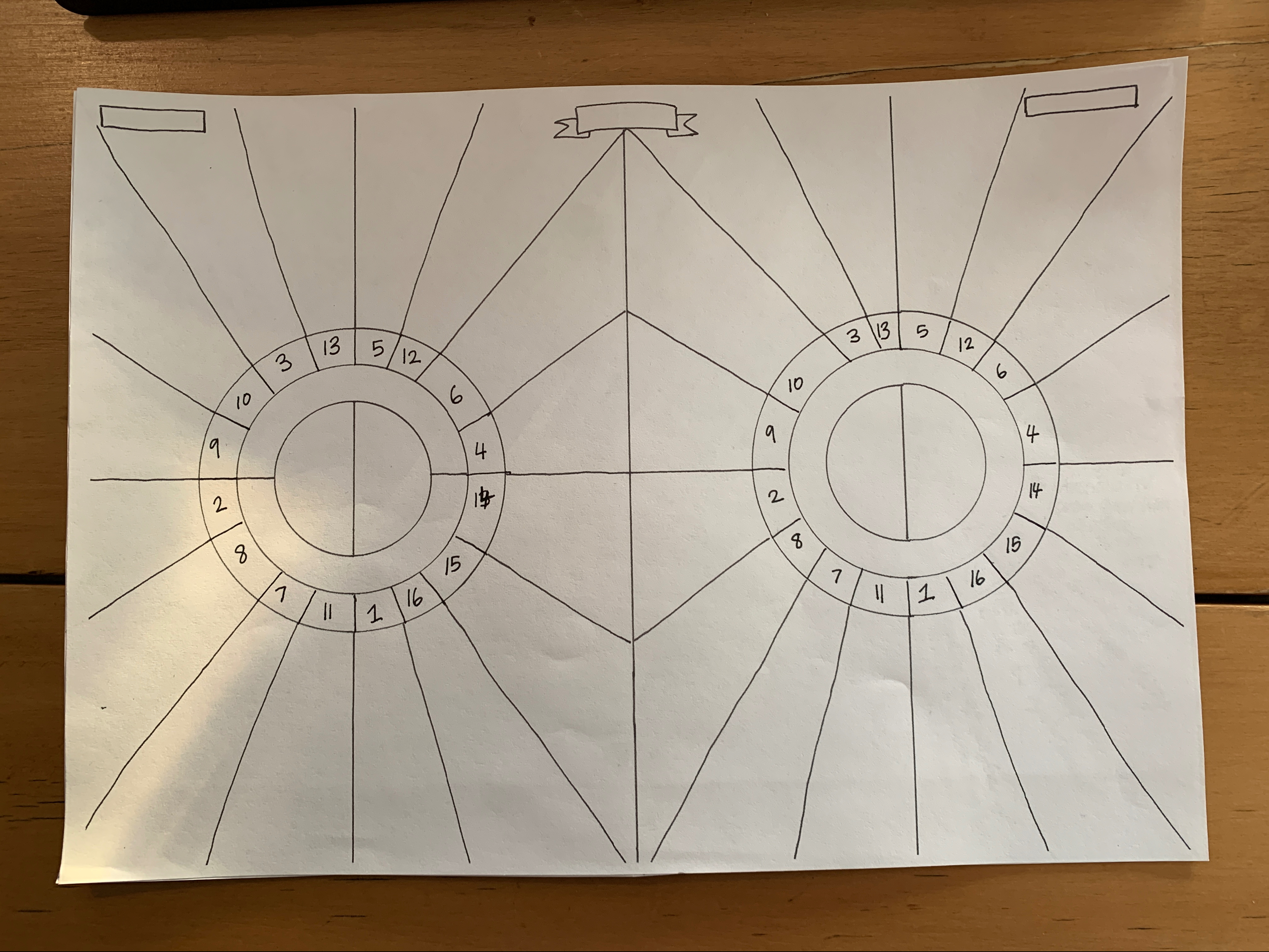 sheet of white A4 paper with dual plot embryos side by side